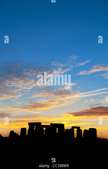 UK, England, Wiltshire, Stonehenge, Summer Solstice Celebrations - Stock-Bilder