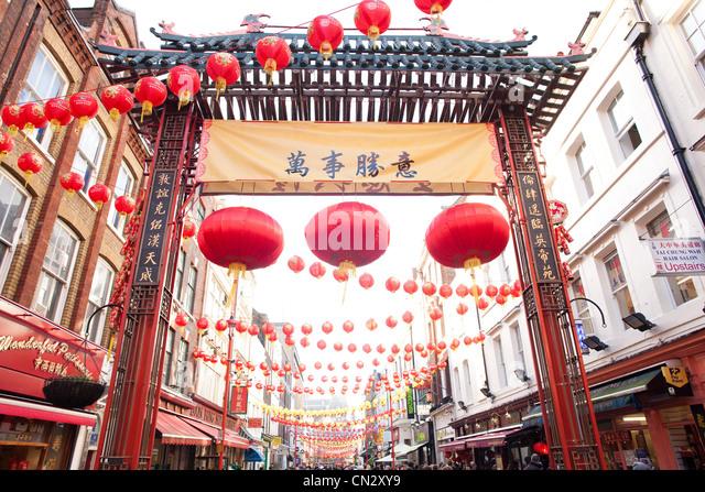 Chinese New Year, China Town, London - Stock Image