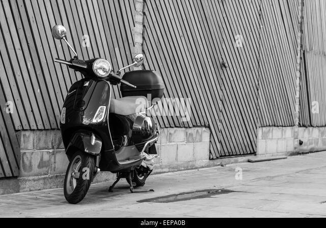 London City, Vespa Moped Street Style Photography - Stock Image