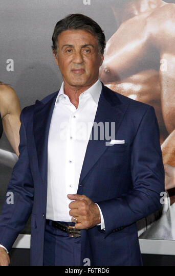 Los Angeles, California, USA. 19th November, 2015. Sylvester Stallone at the Los Angeles premiere of 'Creed' - Stock Image