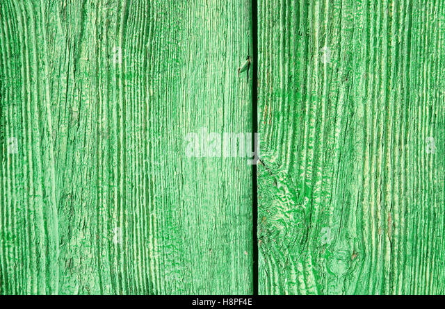 Detail of green door. - Stock Image