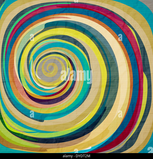 abstract wallpaper with colorful swirl on textured paper - Stock-Bilder