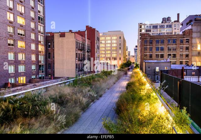 New York City, USA on the High Line Park. - Stock Image