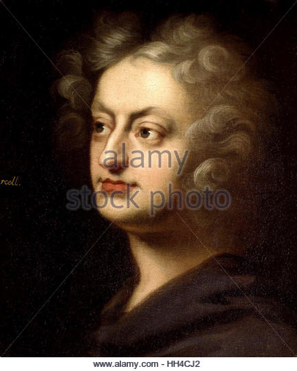Henry Purcell, English composer, circa 1695 - Stock-Bilder