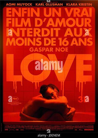 KARL GLUSMAN & AOMI MUYOCK POSTER LOVE (2015) - Stock Image