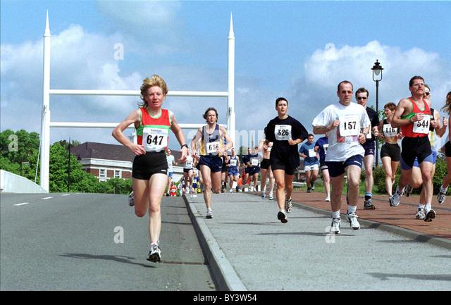 Marathon, Barry Waterfront. - Stock Image
