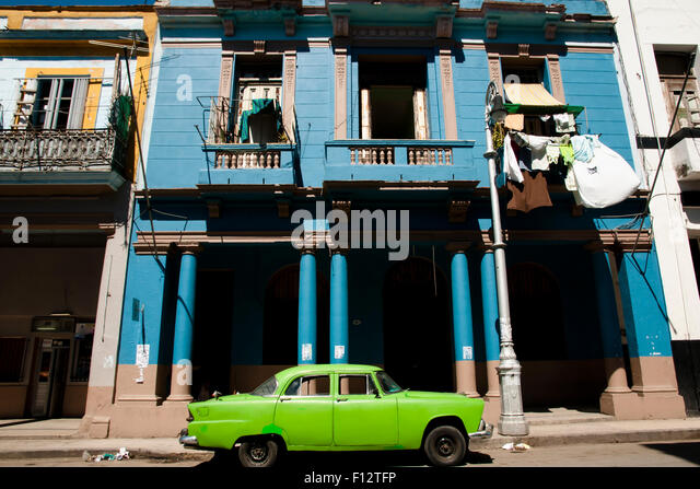 Colonial Building - Havana - Cuba - Stock Image