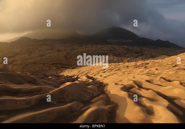 September 4, 2009 - Dukono volcano ash desert, Halmahera Island, Indonesia. - Stock Image