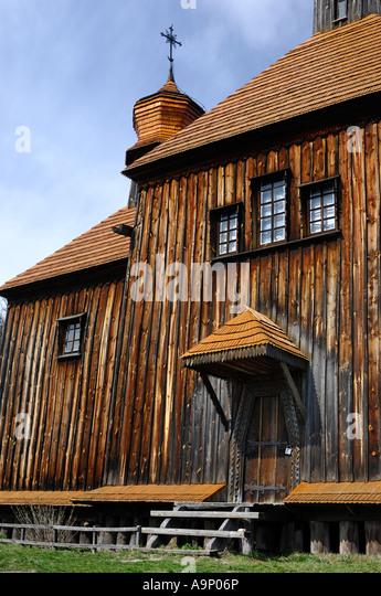 Ancient wooden orthodox church in Ukraine - Stock-Bilder