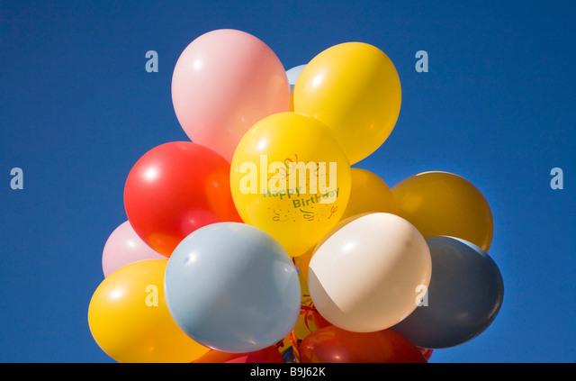 Balloons, happy birthday - Stock Image
