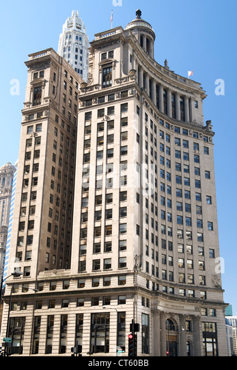 The former London Guarantee and Accident Building in Chicago, Illinois, USA. - Stock Image