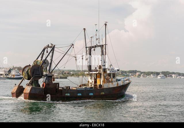 Fishing boat atlantic usa net stock photos fishing boat for Fishing in rhode island