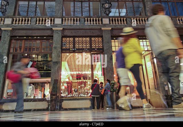 Shopping Passage, old city center of Turin Piedmont, Italy - Stock-Bilder