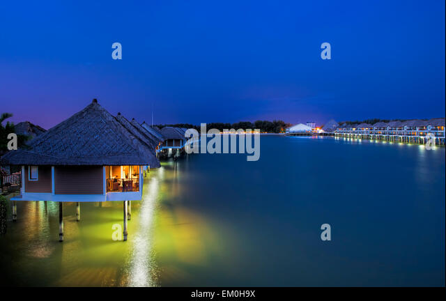 Water villas - Stock Image