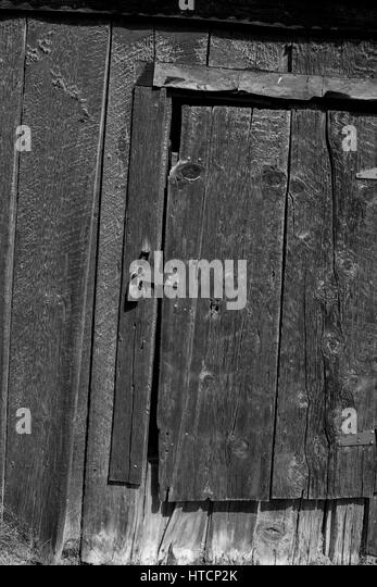 Door. The Bodie State Park is the remains of Bodie, a silver and copper mining town in the eastern California desert. - Stock Image