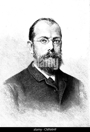 ROBERT KOCH (1843-1910) German  physician who isolated anthrax, cholera and tuberculosis  bacteria - Stock Image