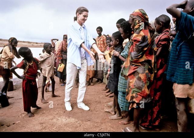 audrey hepburn,ambassadress of Unicef - Stock Image
