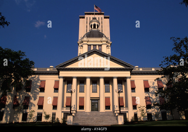 Florida tallahassee old state capitol building State House The Old State Capitol Florida State Capitol - Stock Image