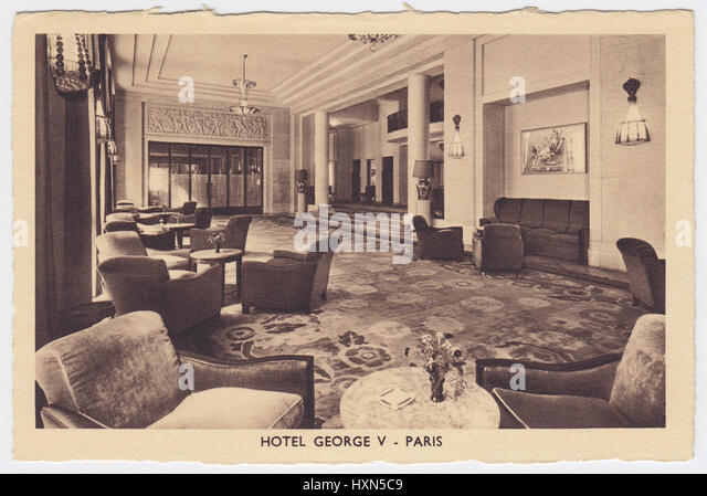 Hotel George V, Paris, France, Hall - Stock Image