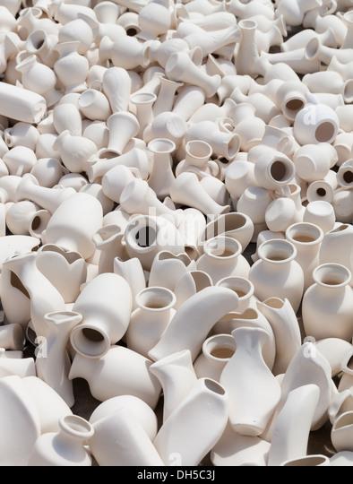 earthen clay vases - Stock Image