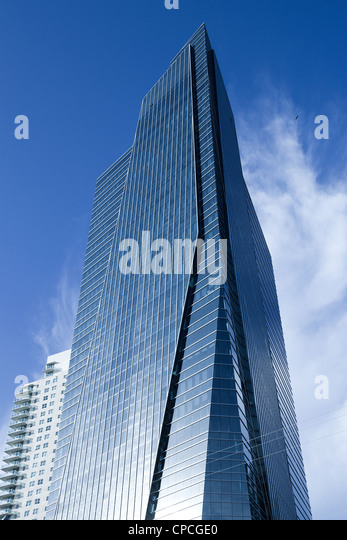 Skyscraper at Brickell district, Miami, Florida, USA - Stock Image