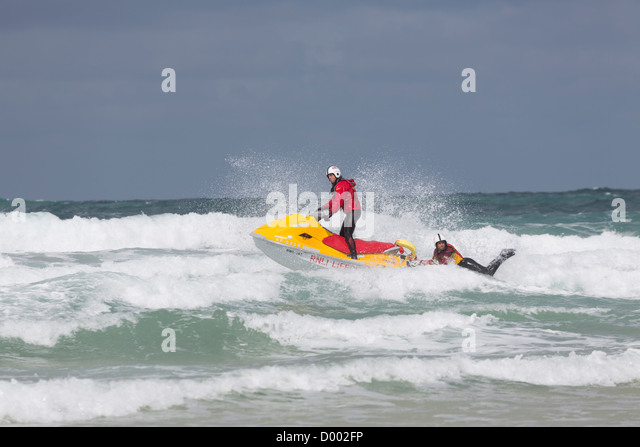 Lifeguards; Newquay; Cornwall; UK - Stock Image