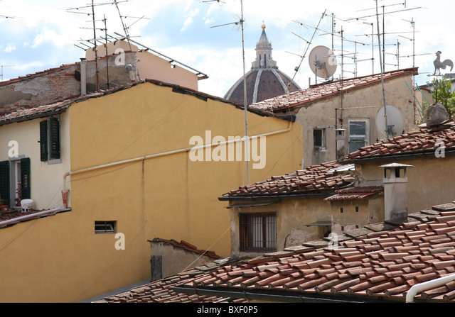 Roofs of Florence - Stock Image