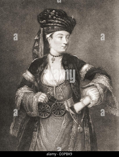 Lady Mary Wortley Montagu, 1689 – 1762. English aristocrat and writer. - Stock Image