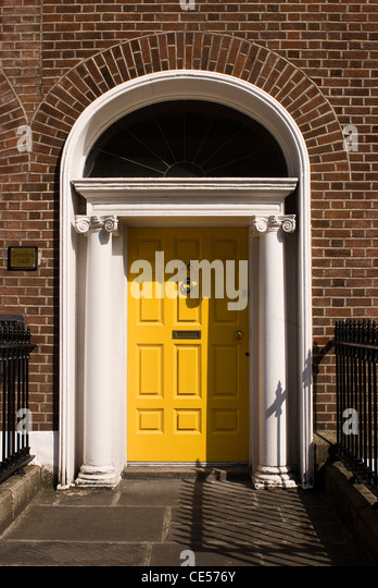 Georgian architecture, Dublin, Ireland - Stock Image