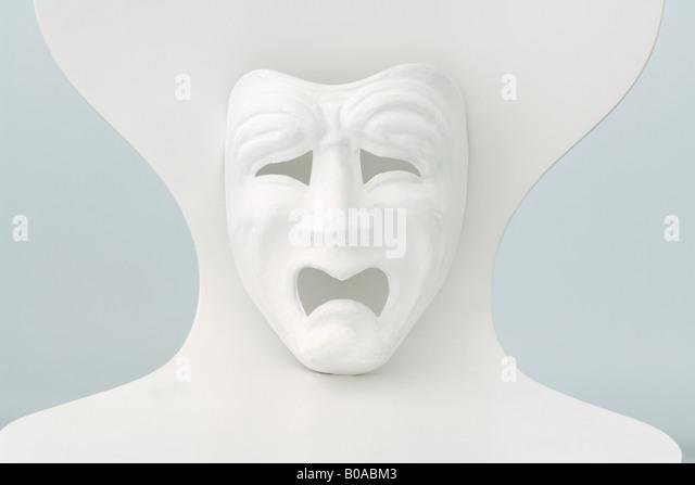 Tragedy mask - Stock Image