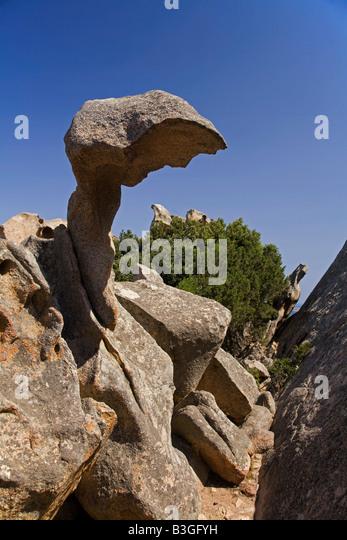 Italy Sardinia Palau Capo d Orso rocks - Stock Image