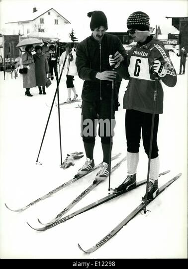 Mar. 03, 1982 - Cross-country-ski championship for the handicaped in Switzerland: The 7th Swiss cross-country-ski - Stock Image