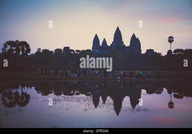 Angkor Wat temple, Angkor, Cambodia. - Stock-Bilder