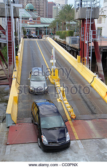 Louisiana New Orleans Mississippi River Canal Street Ferry Algiers Crescent City Connection Division CCCD ferryboat - Stock Image