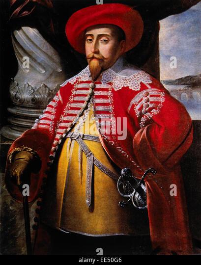 Gustavus Adolphus, Gustav II Adolf, (1594-1632, King of Sweden (1611-32), Portrait, Painting by Matthaus Merian, - Stock Image