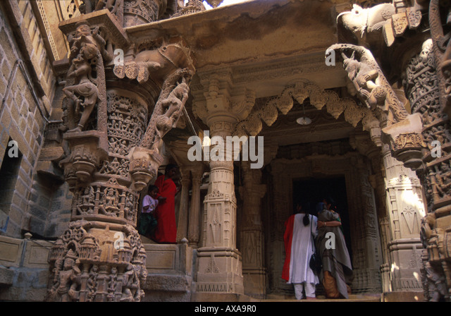 Jaintempel, Jaisalmer, Rajasthan Indien - Stock-Bilder