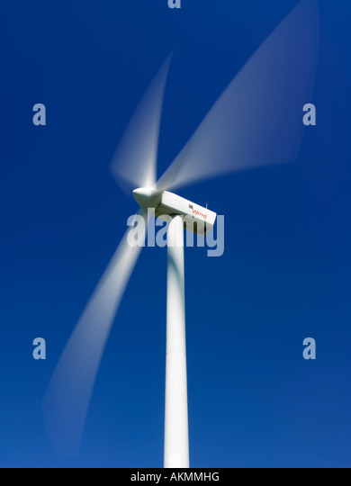 Canada Ontario Tiverton wind turbines used for generating electricity - Stock Image