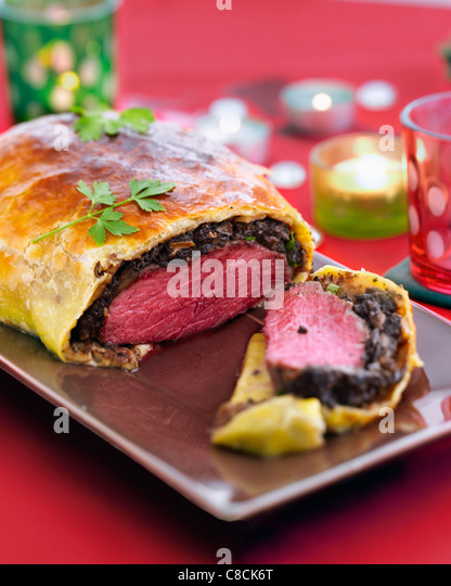 Beef in pastry crust - Stock Image