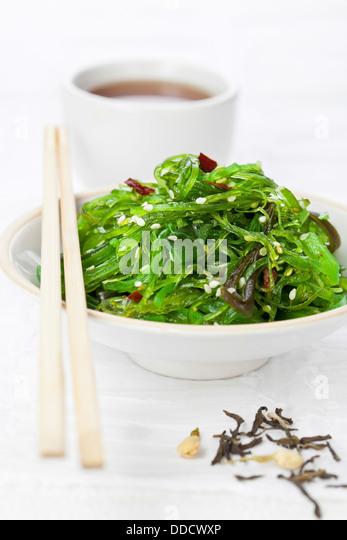Seaweed japanese Salad with Sesame Seeds - Stock Image