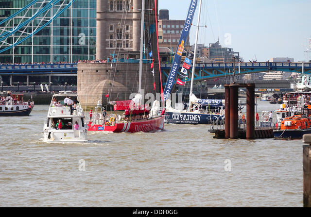 London, UK. 01st Sep, 2013. London is to host the start and finish of the 2013-14 edition of the Clipper Round the - Stock Image