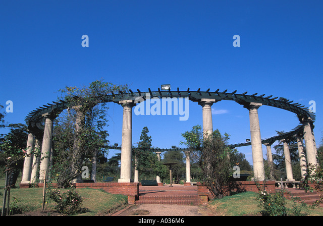 Uruguay Montevideo el prado park rose garden - Stock Image