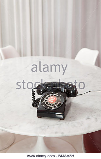 Vintage dial phone - Stock Image
