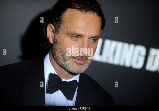 New York City. 9th Oct, 2015. Andrew Lincoln attends AMC's 'The Walking Dead' Season 6 Fan Premiere - Stock Image