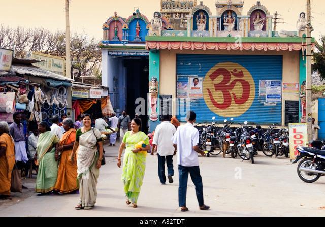 South India Tamil Nadu Kanyakumari Hindu temple district - Stock Image