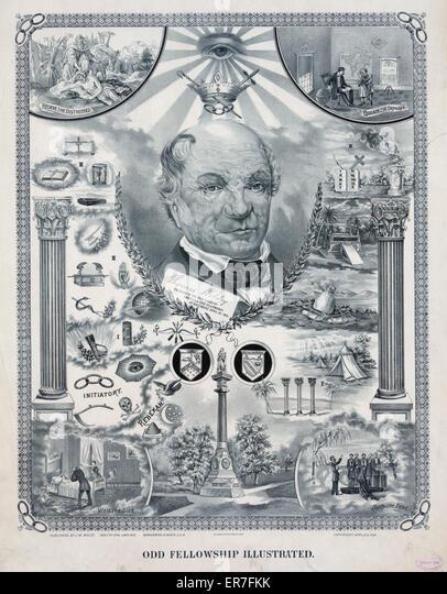Odd fellowship illustrated. Date c1894 Mar. 29. - Stock Image