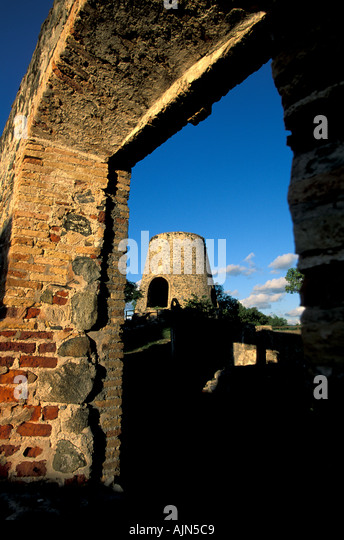 St John U S Virgin Islands Annaberg Sugar Mill - Stock Image