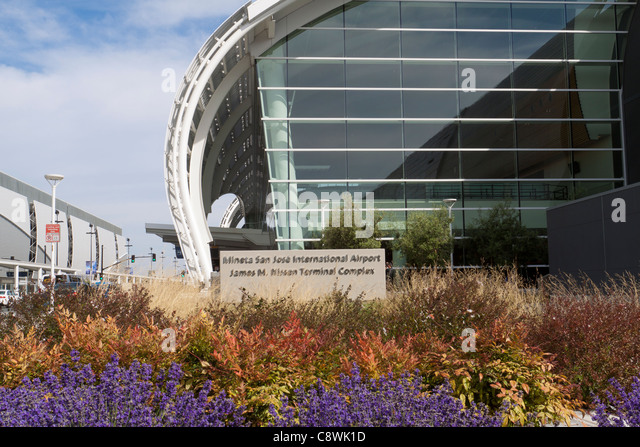 Modern architecture of Mineta San Jose International Airport in California - Stock Image