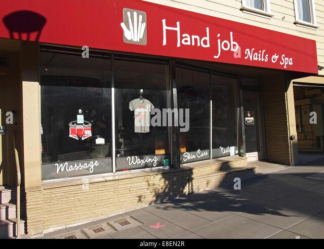 Hand Job Nails & Spa, Castro Street, San Francisco - Stock Image