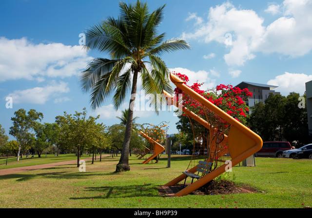 Darwin City Foreshore Park - Stock Image