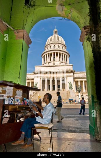 Cuba, the Havana Capitol - Stock Image